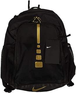 Youth Girls Hoops Elite Basketball Backpack EYBL Black Gold