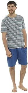 Tom Franks - Men's Printed Striped Pajama Shorts Set