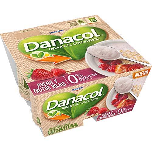 Danacol Avena Frutos Rojos - Pack de 4 Unidades