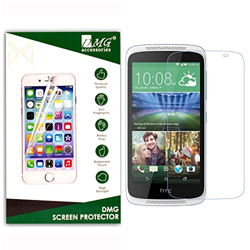 Dmg 2.5D Bubble-Free Tempered Screen Protector For Htc Desire 526 (No Fingerprints Anti-Scratch Oil Coated Washable)