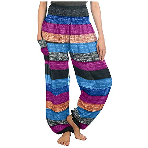 Buy Discount Ethnic Yoga Pants - Women'S Comfy Casual Pajama Pants Floral Print Stretchy Elastic W...