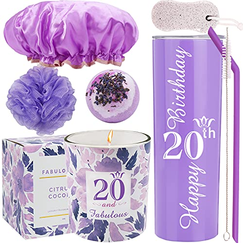 20th Birthday Tumbler, 20th Birthday Gifts for Girl, 20 Birthday Gifts, Gifts for 20th Birthday Girl, 20th Birthday Decorations, Happy 20th Birthday Candle, 20th Birthday Party Supplies