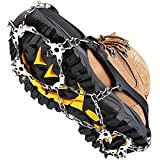 Crampon,Boot Cleats, Snow Safe Grips, Ice Cleat, Crampons for Hiking Boots,Micro Spikes, Shoes Boots Men WomenKids Anti Slip 19 Stainless Steel Spikes Hiking Boot Cleats, Walking Climbing Etc