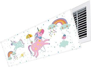 Aire Acondicionado Deflector de Aire, Ajuste libremente el ángulo del Parabrisas para Cambiar la dirección del Viento, fácil de Instalar Desmontar y Limpiar (Color : Style 2, Size : 110cm)