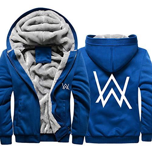 YaNanHome Geben Sie Einen Warmen Schal, Einen PlüSchverdickten Hoodie, Eine üBergroßE Kapuzenjacke Mit Kapuze, Einen Warmen Pullover Und EIN Fleece-Sweatshirt Der Alan Walker-Serie Plus/A / 3XL