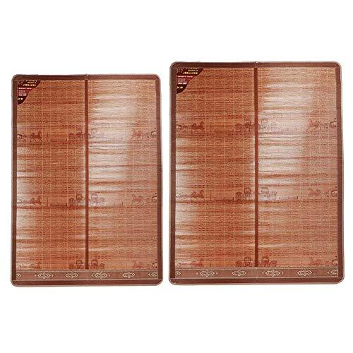 Pbzydu Rattan Mattress,Summer Cooling Bed Mat Mattress Double‑Sided Folding Bamboo Sleeping Mat Bedding Good Air Permeability (195 * 150cm-#1)
