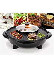 2-i-1 Shabu-Baking One-Piece Pott Non-stick Layer Grill Hot Pot Grilling Grill Grill Kök Multi-Purpose Rice Cooker Soup Pot