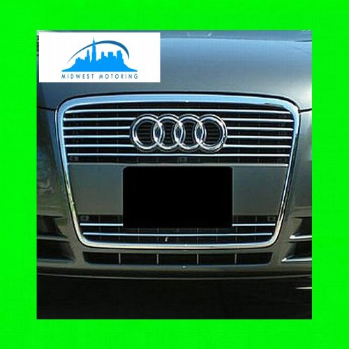 312 Motoring fits 2006-2010 Audi A8 Chrome Trim for Grill Grille 2007 2008 2009 06 07 08 09 10 S LINE S-LINE
