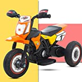 GoodLuck Baybee Battery Operated Ride On Bike for Kids/Toddler Bikes for Babies/Children Bike-Kids Bike for boy-Baby Bike-Recharable Electric Bike for Kids Suitable Babies for Boys & Girls -Orange