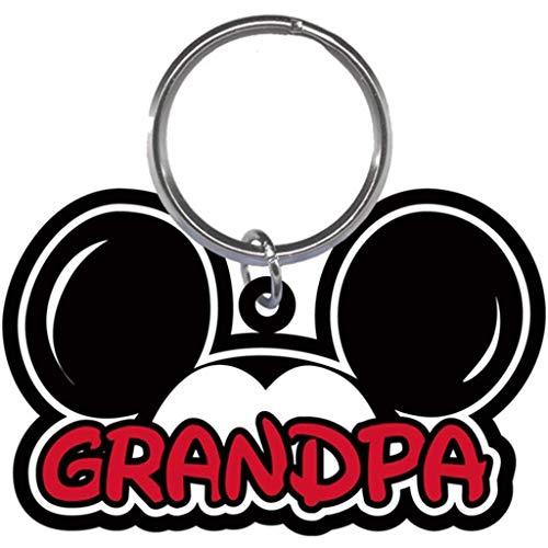 Disney Family Grandpa Mickey Mouse Ears Lasercut Laser Keychain Keyring