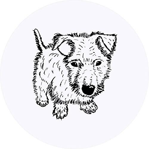 Azeeda 24 x 40mm Runden 'Flauschiger Hund' Aufklebern / Stickers (SK00035115)