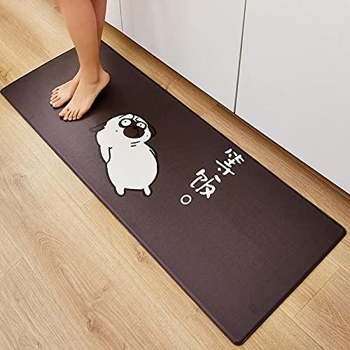 Qqkkabb Küchen-Fußmatten rutschfeste Matten, warten auf Mahlzeiten, 45 * 120 cm lang, öl- und wasserdichtes Kochfeld, Nachttisch-Teppich-Fußmatten, Schlafzimmerdecken, Erkermatten