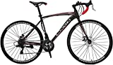LOOCHO Road Bike 21 Speed Dual Disk Brake 701C Wheels Fitness Bicycle Urban City Commuter Bike