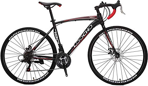 LOOCHO Road Bike 21 Speed Dual Disk Brake 701C Wheels Fitness Bicycle Urban City Commuter...