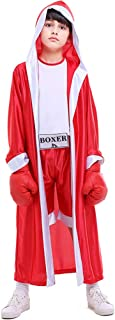 Children Boxing Costume Boxer Cosplay Halloween Party Dress Decoration Role Playing Uniform Carnival Boxing Robe for Kids