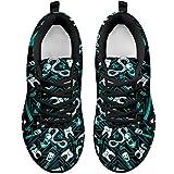 Footwear by CasseyDesi Dentist Dental Teeth Hygienist Gift Idea Women Sneakers Running Shoes Gifts Bk (US 09 (EU40))