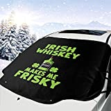 Whisky irlandés me Hace Frisky Windshield Snow Cover,Sun Windshield Sun Shade,Ice Cover,147x118cm