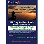Ration-X All Day Ration Pack 2100 kcal Ready to Eat Wet Meals Plus Snacks Menu 3 Vegetarian 3