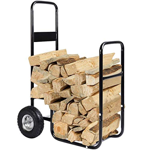 Goplus Firewood Log Cart
