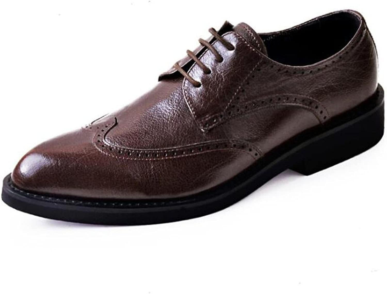 Men shoes Genuine Leather Brogue Business Formal Dress Lace Up Size 38To 44