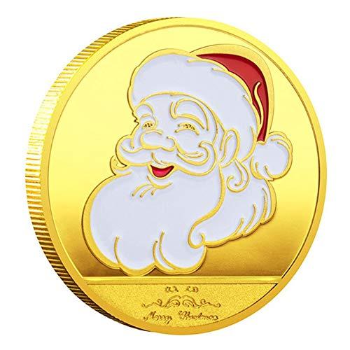 HXML Arras Monedas Plata 2020 Navidad Santa Claus Moneda Conmemorativa Recuerdo Desafío Colección Arte,Oro