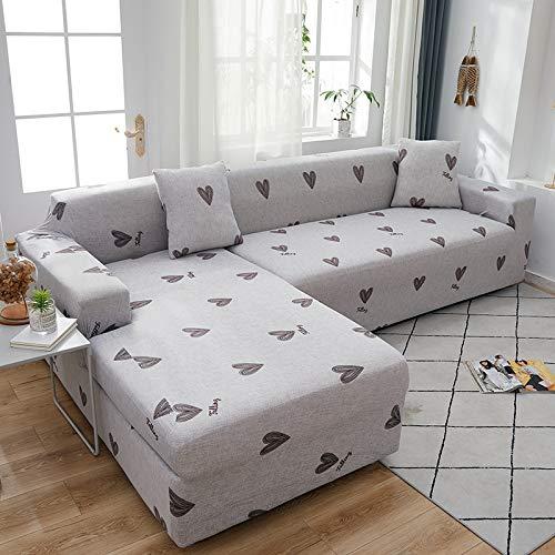 ASCV Funda de sofá elástica seccional elástica para sofá de Sala de Estar Funda de sofá en Forma de L Funda de sillón A4 1 Plaza