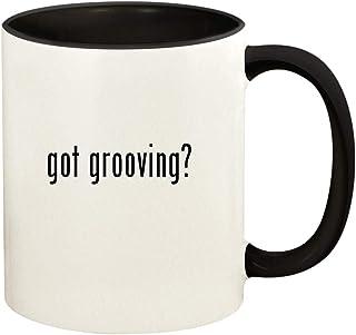 got grooving? - 11oz Ceramic Colored Handle and Inside Coffee Mug Cup, Black