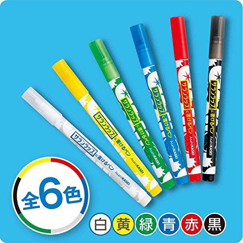 『サランラップに書けるペン 6色セット (黒・赤・青・緑・黄・白)』の3枚目の画像
