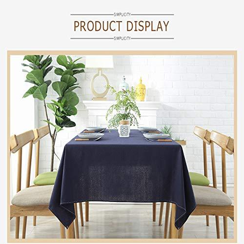 shiyueNB linnen tafelkleed waterdicht en oliebestendig dikke rechthoekige bruiloft tafel deken koffietafelkleed multicolor solide decoratie op tafelkleed 140X260cm