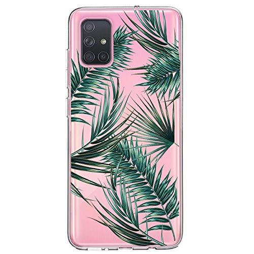 Handyhülle für Samsung Galaxy A71,Durchsichtig Transparent Crystal Clear TPU Silikon Hülle Ultra Dünn Case Cover Kratzfest Schutzhülle für Samsung Galaxy A71 Marmor Blumen