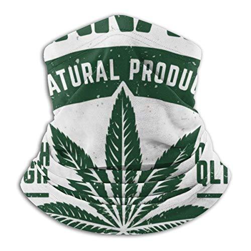 Trista Bauer Pasamontañas Cannabis Grunge Emblema. Weathered Old Fashioned Monocromo Emblema Con Hoja De Marihuana. Elegante capucha de pasamontañas