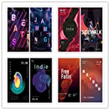 Abstract art music fashion dazzle colour gradient graphics background English posters PSD design material 0027