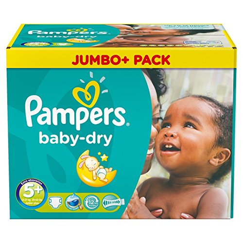 Couches Pampers - Taille 5+ baby dry - 252 couches bébé