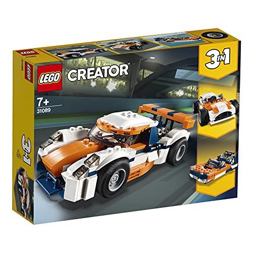 LEGO 31089 Creator LaVoituredeCourse Sportive et Bateau à Moteur 3 en 1, Jouets de véhicule pour Les Enfants de 7 Ans et Plus