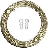 iGadgitz Home U6940 - Cuerda Tendedero Ropa Exterior de Acero Recubierta de PVC Cable Tendedero Hilo...