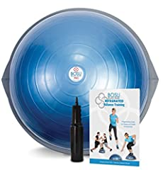 BOSU BALANCE TRAINER: Great for commercial and home use, the BOSU Balance Ball Trainer is a useful workout accessory for yoga, Pilates, physical therapy, and more. VERSATILE: With so many possible uses, this sitting ball makes the perfect addition to...