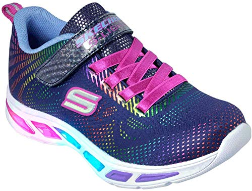 Skechers Litebeams-Gleam N'dream, Zapatillas para Niñas, Azul (Navy/Multi Nvmt), 30 EU