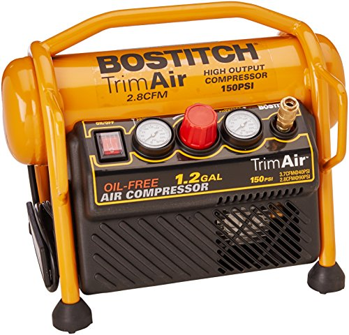 BOSTITCH Air Compressor for Trim, Oil-Free, High-Output, 1.2...