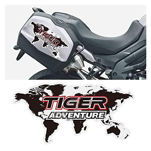 Tatumyin Etiqueta engomada del Caja del Estuche Lateral del Equipaje de la Motocicleta para Triumph Tiger 800 900 1200 1050 2020 hnszf (Color : 1)