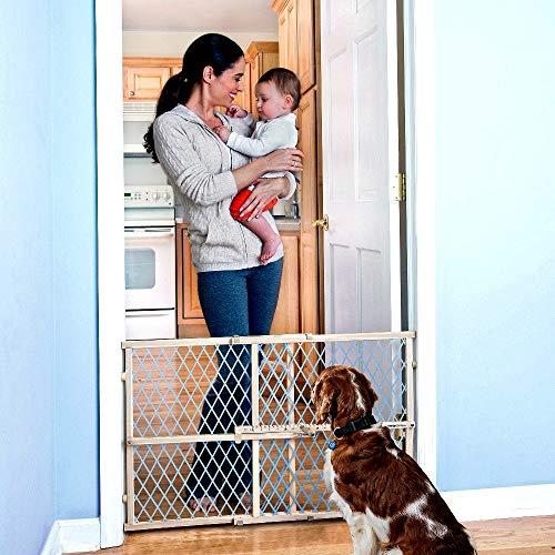 Pressure Mount Pet Gates for Doorways Position & Lock Pressure Mount Gate Wooden Construction Blue Color - Skroutz Deals