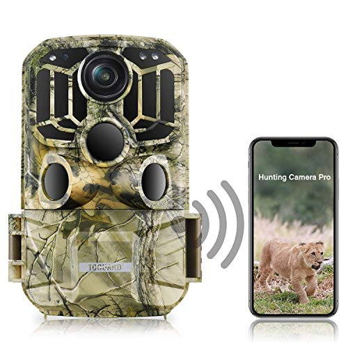 TOGUARD WiFi Trail Camera 20MP 1296P Game Camera Motion Activated Night Infrared...
