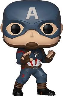 Marvel Avengers: Endgame Pop! - Figura con cabeza oscilante, Capitán América, exclusiva