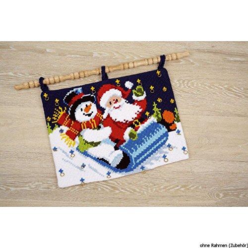 Vervaco kruissteek winterslee wandbehang borduurwerk, katoen, meerkleurig, 53 x 40 x 0,3 cm