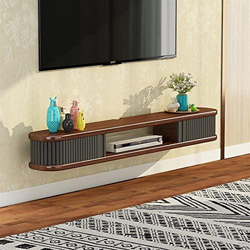 WXLW- shelf Estantes flotantes Set-Top Box Rack Estante Flotante Montado en la Pared TV Mueble TV Decoración de Pared TV Console Estantes para Sala de Estar Estante de Almacenamiento de Dormitorio