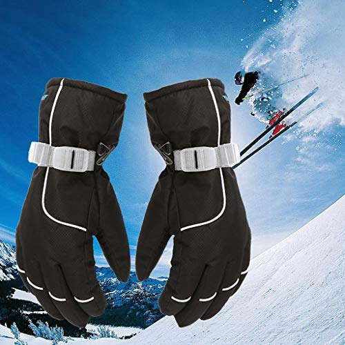 CapsA Men Women Winter Insulated Thermal Cycling Gloves Touch Screen Waterproof Windproof Snow Silde Screen Ski Sport Warm Gloves Driving Water-Splashing Anti-Skid Outdoor Gloves