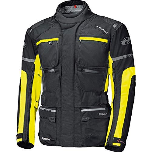 Held Motorradjacke mit Protektoren Motorrad Jacke Carese II Gore-TEX Tourenjacke schwarz/Neongelb S, Herren, Enduro/Reiseenduro, Ganzjährig, Textil