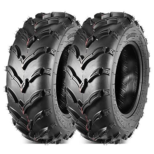 MaxAuto Set of 2 front ATV Mud Tires 22x7-11 22X7X11 6PR Replacement for Honda Recon 250 Suzuki...