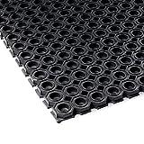 Vivol Gummi Ringmatte 100x150 cm Schwarz - Schwerlast - Fußmatte für außen im Garten oder an der Hintertür