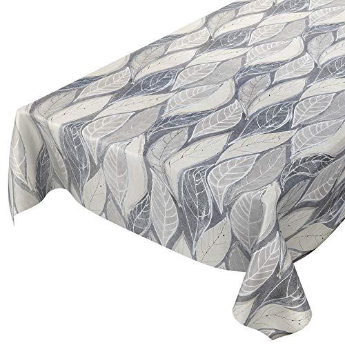 ANRO Mantel de hule, lavable, mantel encerado, gris, moderno, 100 x 140 cm