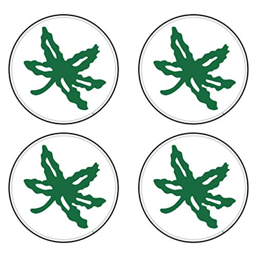"Craftique Ohio State Decal (LAM-UNPKG Leaf White 4-PK Deca (1.5''), 1.5"")"
